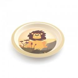 Assiette en bambou - Lion