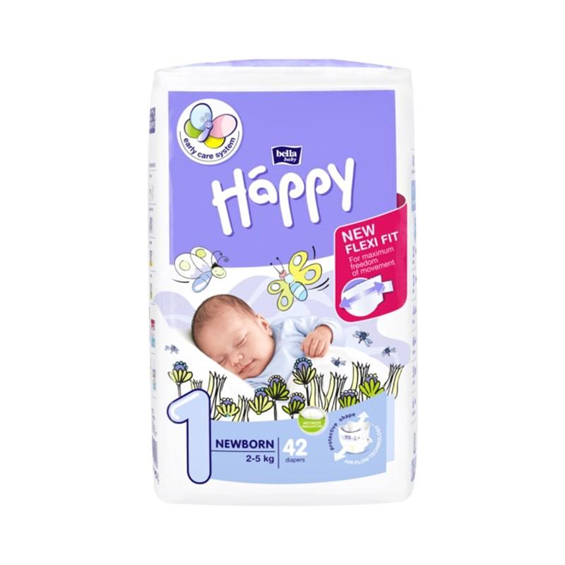 Couches bébé Happy Taille 1 - 42 couches
