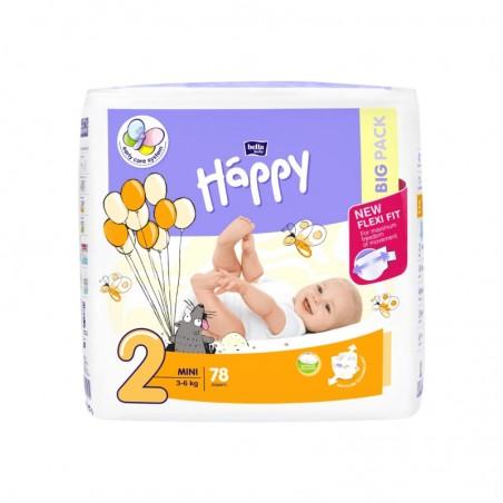 Couches bébé Happy Taille 1 - 78 couches