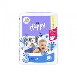 Couches bébé Happy Taille 3 - 72 couches