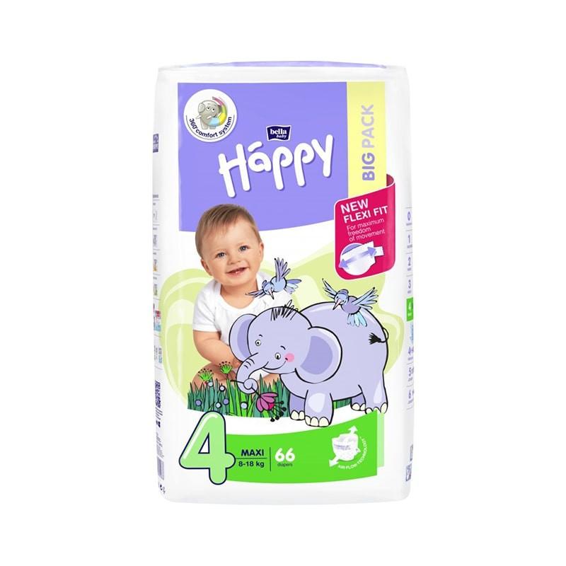 Couches bébé Happy Taille 4 - 66 couches