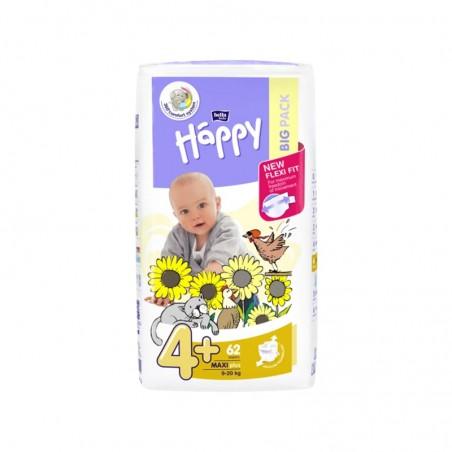 Couches bébé Happy Taille 4 maxi plus - 62 couches