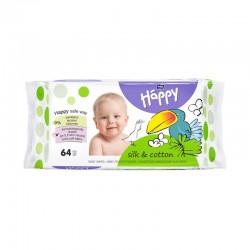 Lingettes bébé Happy au Coton et à la Soie