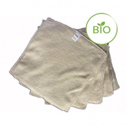 Lingette lavable en coton bio - Lot de cinq