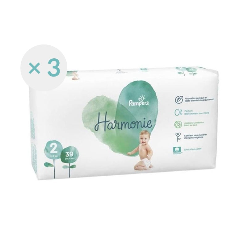 Couches Pampers Harmonie Taille 2 - 39 couches