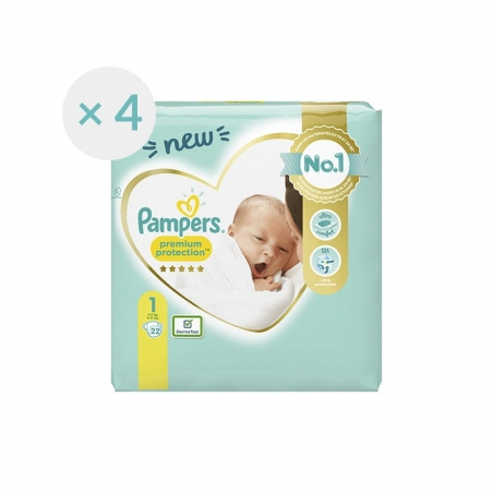 Couches Pampers Premium Protection Taille 1 - 22 couches
