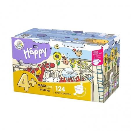 Couches bébé Happy Taille 4 maxi plus - 124 couches